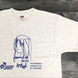 Vintage Girls 2.0 Intel Computers T-shirt